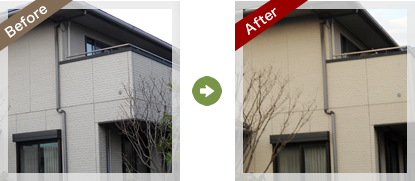 ゴマ塗装Before After